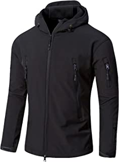 YFNT Men Softshell Tactical Military Fleece Lined Jacket with Hood