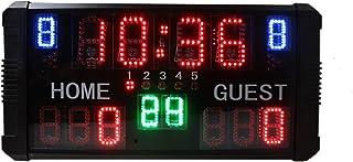 Spolehli LED Scoreboard Digital Multisport Scoreboard with Remote Control Indoor & Outdoor Portable Tabletop Scoreboard f...