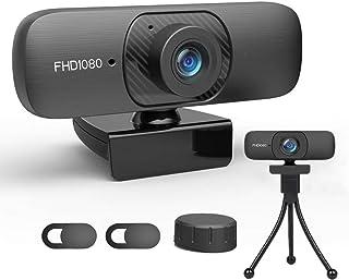 Cámara web 1080P con micrófono estéreo, cámara web HD co