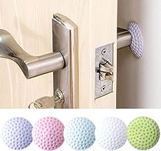 Zachte rubberen pad om de muur zelfklevende deurstop golf modellering deur spatbord stickers (wit/blauw/roze/groen/paars) ...