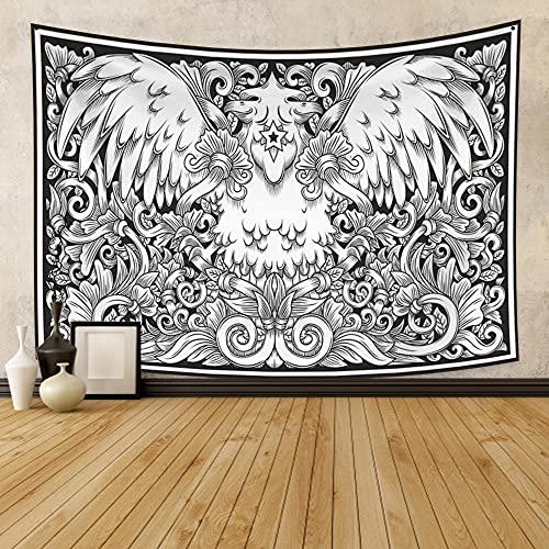 Yeephp Tapiz De Arte De Runas Psicodélicas En Blanco Y Negro Adecuado Para La Decoración De La Pared Del Hogar Del Artista De La Sala De Estar Del Dormitorio De La Habitación