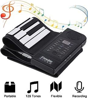 fosa Portable 61-Keys Roll up Soft Silicone Flexible Electronic Digital Music Keyboard Piano New