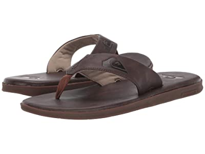 Quiksilver Haleiwa Plus Nubuck (Brown/Brown/Brown) Men