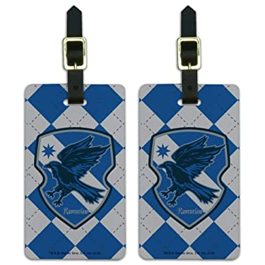 Harry Potter Ravenclaw Plaid Sigil Luggage ID Tags Carry-On Cards - Set of 2