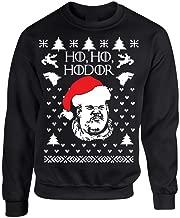 Allntrends Adult Crewneck Sweatshirt Ho Ho Hodor Ugly Christmas Sweater