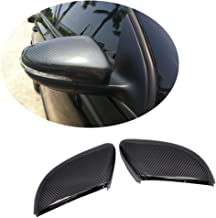 MCARCAR KIT Mirror Cover fits Volkswagen VW Golf VI GTI MK6 R20 Hatchback 2010-2014 Replacement Carbon Fiber CF Rearview Side Rearview Mirror Caps Car Exterior Outside Shell