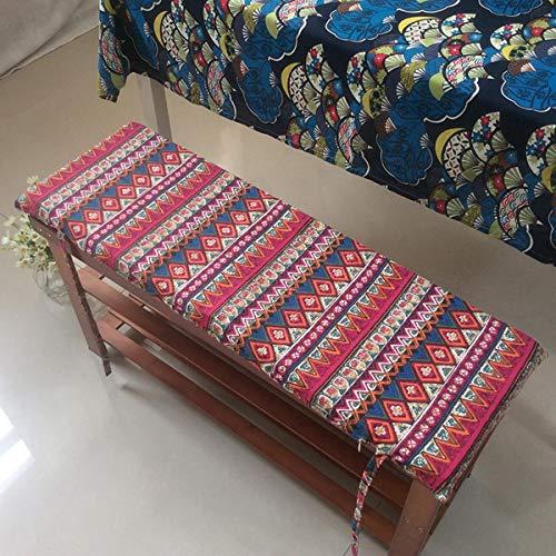 DanChen Cojín de banco de jardín de espuma premium para 2 3 plazas, 150 x 40 cm para interior y exterior, lavable, cojín de asiento de banco de patio, cojines de sofá y muebles de patio