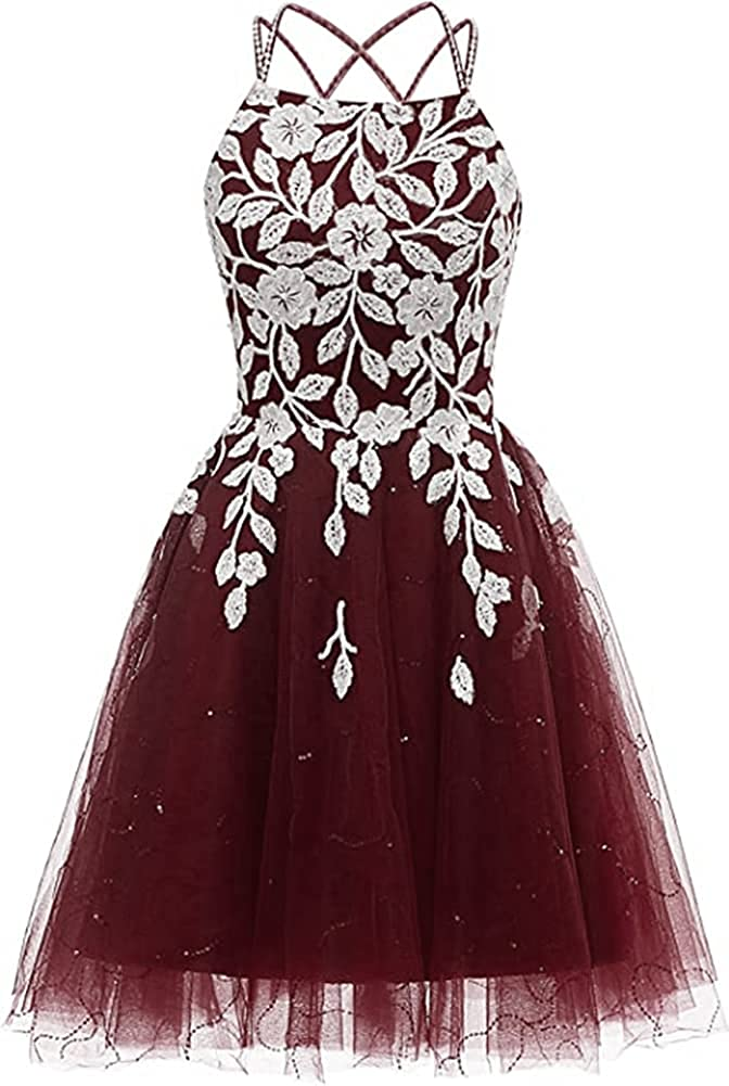 Snow Lotus Women's Save money Max 71% OFF Spaghetti Strap Lace Beaded Homecoming Dress