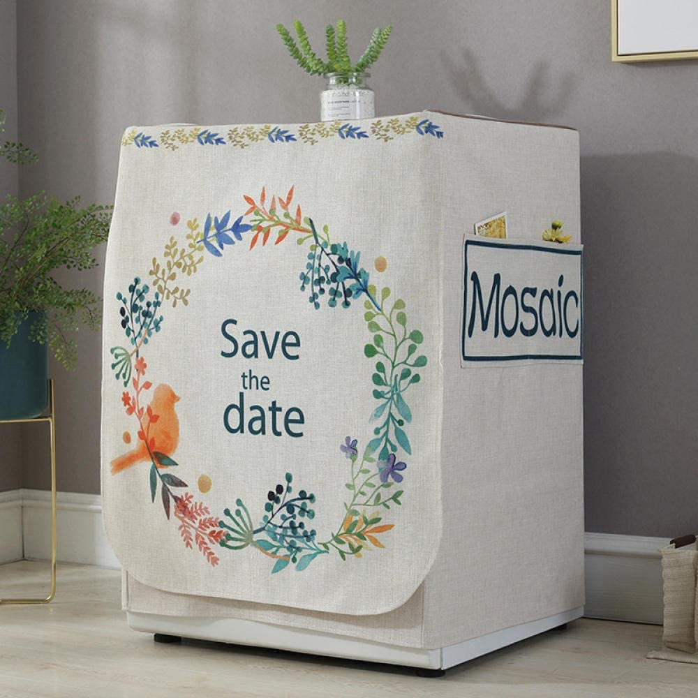 Washing machine cover Waterproof Dealing full price reduction Flowers birds and top Popular overseas load for