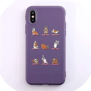 パンダ犬電話ケースiphone 7ケースiphone X Xs max XR 8 7 6S 6プラスソフトTPUバックカバー漫画カップルケース,For iphone X,IK69-45TiCaoPug