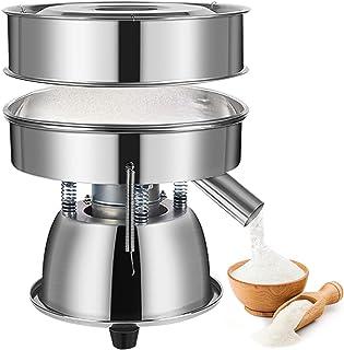 YUCHENGTECH Elektrisk vibrerande sifter elektrisk mjöl sifter automatisk vibrerande sil rostfritt stål pulverskärmningsmas...