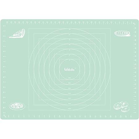 webake Tapis de cuisson en silicone - 70 x 50 cm - Revêtement anti-adhésif - Vert