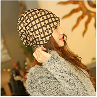 CHENDX High Quality Hat, Sleeve Hat Autumn Winter Ladies Three Headscarf Hats Students Korean Version of The Pile of Hats Baotou Month Mats Maternity Hat Tide Bowler Hat
