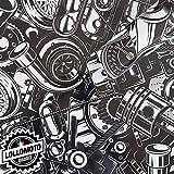 Stickers Bomb Motor Component Pellicola Car Wrapping Adesiva Rivestimento Auto - 76x200cm