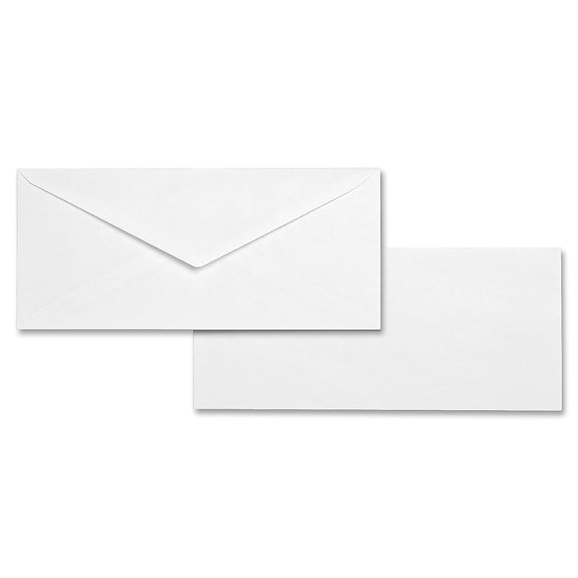 Business Source No. 10 White Wove V-Flap Business Envelopes