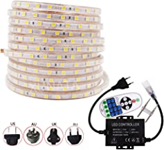 10m SMD 5050 LED Strip Lights with RF Remote Controller, 220V IP67 Waterproof Rope Light Full Kit, Indoor Outside Christmas Decoration LED Ribbon AU Plug Power Supply by XUNATA