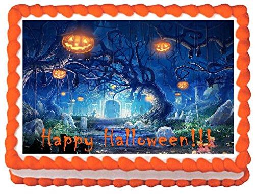 Halloween #6 Edible Cake Topper - 1/4 Sheet