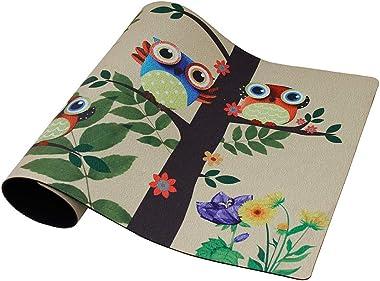 Rubber Welcome Door Mat, Decorative Indoor Outdoor Doormat Non Slip Front Door Mat, Easy to Clean Low Profile Mat for Entry P