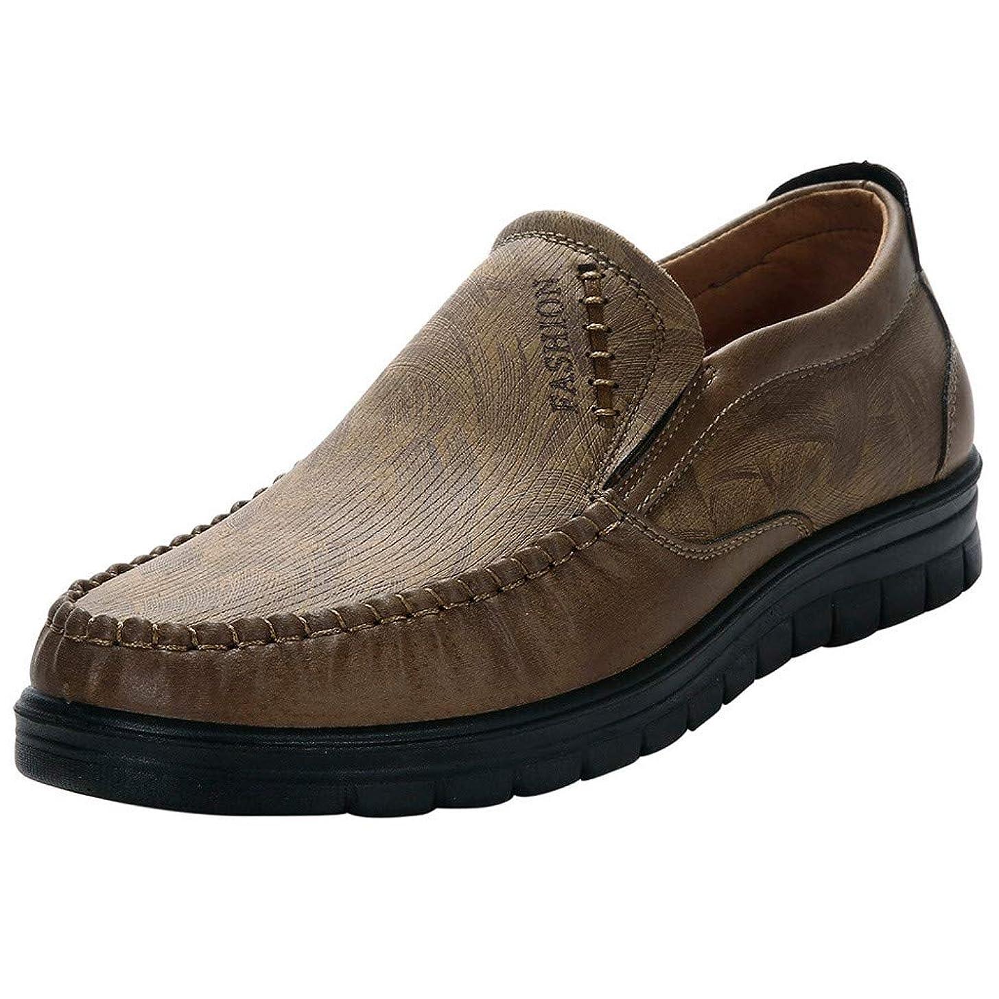 Men Single Shoes, Summer Clearance Non-slip Wear Shoes Leisure Solid Color Flat Shoes Round Toe Business Shoes Hot Sale lkoezi