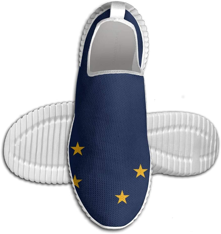 Flagg of Alaska Awesome Printed ljusljus ljusljus ljusljus Andable springaning skor skor skor Mans Sports gående skor  billigt och mode