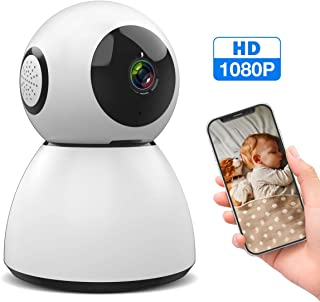 M WAY WiFi IP Camera 1080P FHD Indoor Security Camera with Sound & Motion Detection, Home Surveillance Baby Pet Monitor with Cloud Service iOS/Android