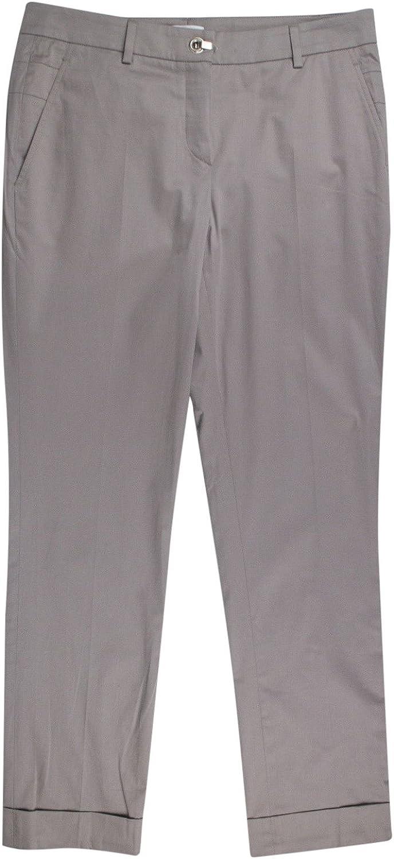 Brunello Cucinelli Gunex Women's Beaver Brown Cotton Casual Pants 6 42