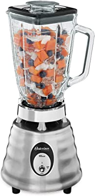 Oster 4093-008 5-Cup Glass Jar 2-Speed Beehive Blender, Brushed Stainless (Renewed)