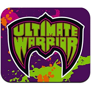 Amazon Com Wwe Ultimate Warrior Logo Low Profile Thin Mouse Pad Mousepad Office Products