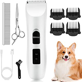 Nicewell Dog Clippers Cat Shaver, Low Noise Pet Grooming and Trimming Clippers Kit, USB Rechargeable Cordless Dog and Cat ...