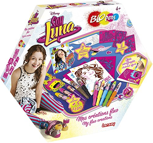 Lansay23553BLOpens- Juego de bolígrafos de soplar deSoy Luna Mes créations Fluo