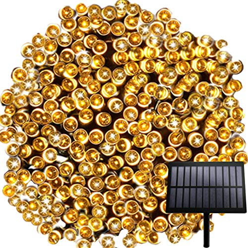 Chipark Solar String Lights Outdoor, 328ft 1000 LED Solar Garden String Lights Waterproof 8 Modes Decorative Fairy Lights for Tree, Patio, Garden, Yard, Home, Wedding (Warm White)[Energy Class A+++]