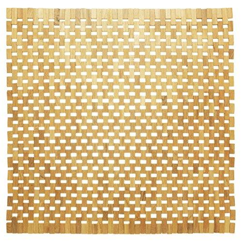 Sealskin Woodblock, Tapis de Bain, Teck, 60 x 60 cm, Marron