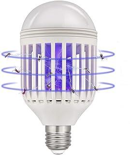Lukasa Bombilla Antimosquitos LED 2 en 1, Lámpara de Mosquito Bombilla E27 con luz eléctrica UV Asesino de Insectos Asesino de Moscas Trampa de Mosquitos Asesino de Mosquitos para el Corredor del