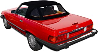 Sierra Auto Tops Mercedes 1972-1989 SL Series (R107) Convertible Top, Ger Classic Canvas, Black