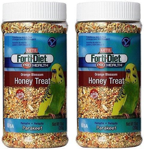 Kaytee Forti Diet Pro Health Orange Blossom Honey Bird Treats for Parakeets, 10-Ounce - 2 Pack