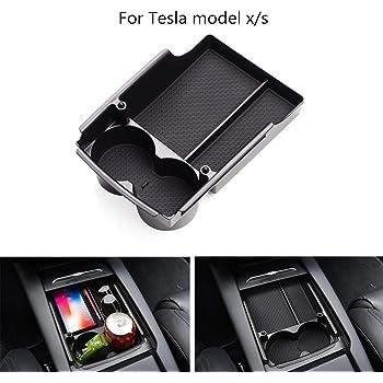 Tickas Auto Armlehne,Auto Armlehne Aufbewahrungsbox Mittelkonsole Organizer Container Halter Box F/ür Tesla Model S