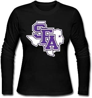 AuSin Women's SFA Logo Casual Long Sleeve Tee Black