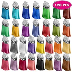 WHAT YOU WILL GET – Package comes with 120 pieces keychain tassels in 30 different colors. Elegant DIY charms for your key chains, earrings, necklaces, bracelets, bags decoration, cellphone straps and other DIY jewelry making projects VARIETY COLORS ...