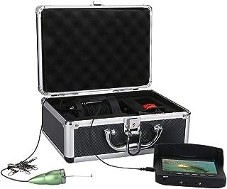 Fish Finders Buscador de Pescado de 4.3 Pulgadas, para Pesca en Hielo Pesca en mar, Lámpara LED infrarroja de 6W Cámara de...