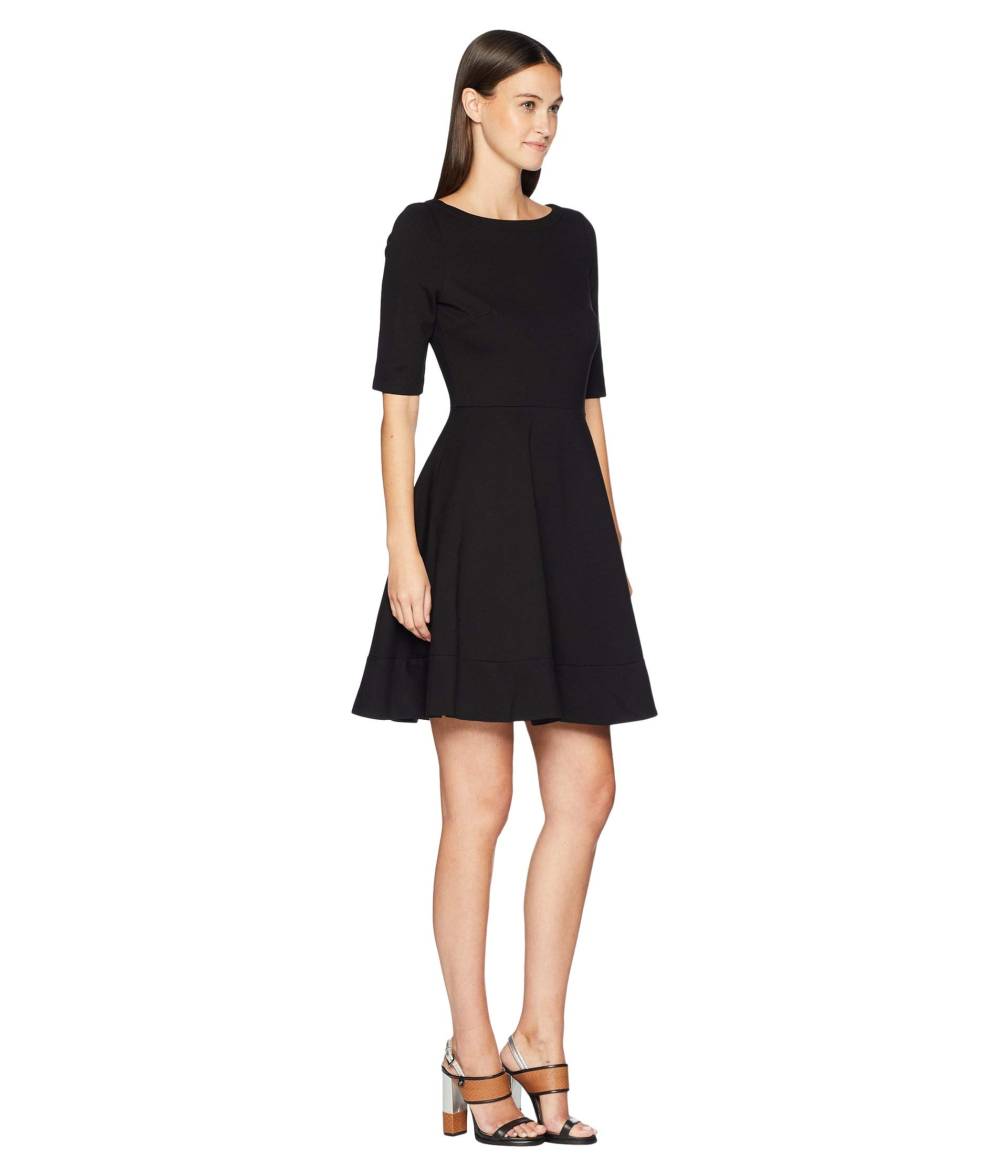Spade Broome Dress Street Lace Ponte New Kate up York Black RdwFvdUq