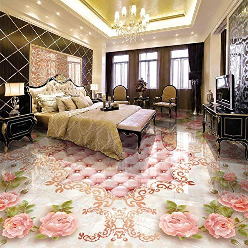 Paquete suave de estilo europeo, baldosas de mármol, pintura, mural, sala de estar de hotel, lujo, PVC, autoadhesivo, papel tapiz impermeable-200 * 140 cm