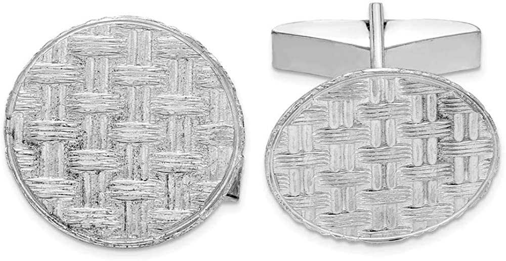 Sterling Silver Rhodium-plated Cuff Links Max 50% OFF 20mm Import style QQ173
