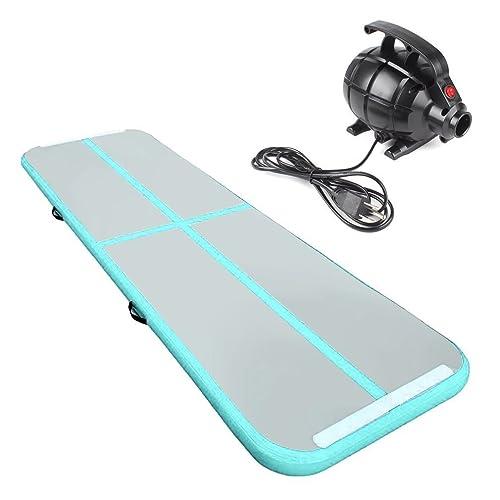Cotogo 3x1x0.1M/3x0.9x0.1M Airtrack gonflable Tumbling Gymnastique/Yoga/Taekwondo/eau flottante/Camping tapis de formation avec pompe électrique 500W (excellent cadeau à la fille)