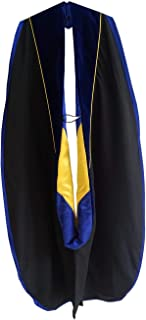 Graduation Doctoral Hood Unisex Deluxe with Gold Piping