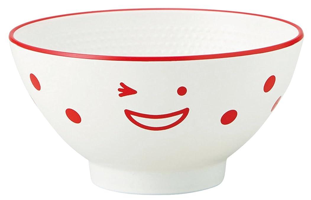 竹中 日本製 茶碗 ノーティ キッズ レッド φ10.5×5.3 T-46521