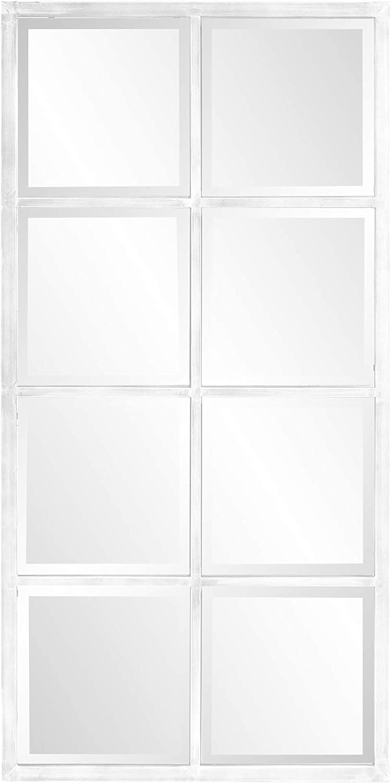 Howard Daily bargain sale Elliott Collection Atrium Mirror Popular Rectangular Windowpane