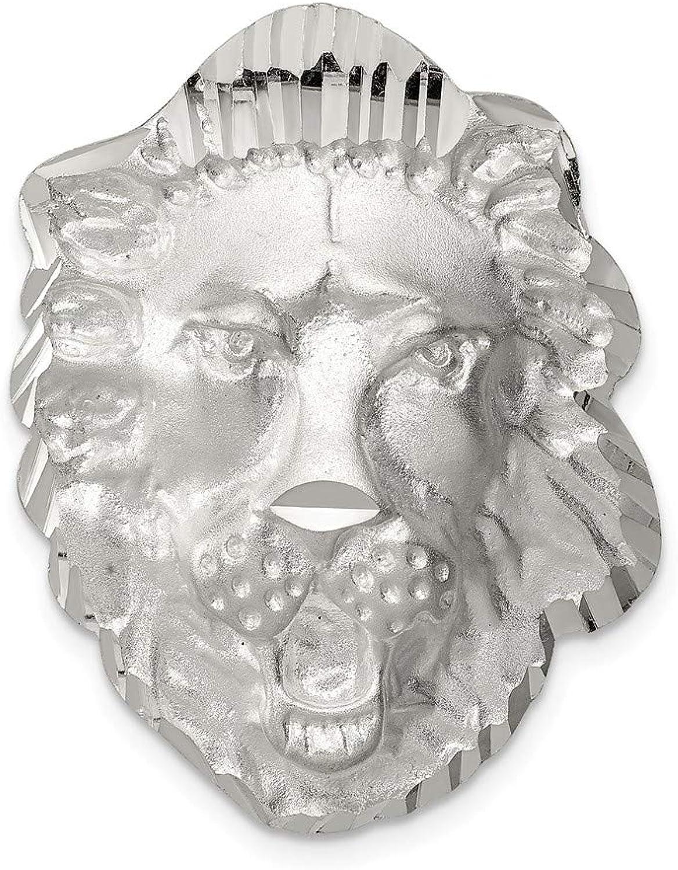 Sterling Silber Lion Kopf Charme Charme Charme B06ZXVKW57 e805d4