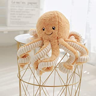 Octopus Plush Doll|Stuffed Soft Toy Animal|Simulation Octopus Education Play Toys|Ocean Animals Plush Pillow for Kids Girl Boy Birthday Xmas Gift Present-Brown