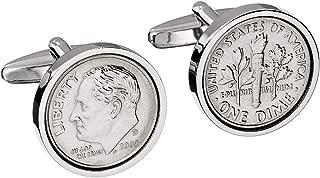 10th Wedding Anniversary - Genuine Mint US 2009 Coin Cufflinks - Perfect Tin anniversary gift
