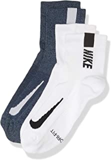 Nike Australia Unisex Multiplier Ankle Socks (2 Pair), Multi-Color, L